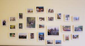 קולאז' התמונות על הקיר