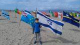 וניס ביץ', מיצג דגלים על החוף